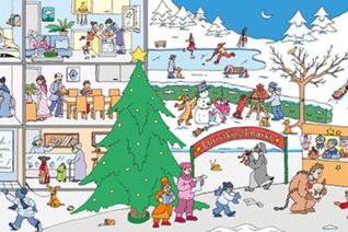 Winterliche Wimmelgeschichten als mehrsprachiges eBook